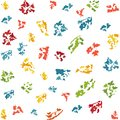 Vector seamless pattern. Abstract print with brush strokes. colored hand drawn texture. Artistic tileable background