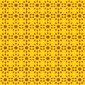 Vector seamless pattern of abstract suns in bright color