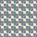 Vector seamless pattern of abstract tiles