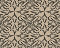 Vector seamless pattern with abstraction. Abstract brown rose.