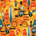 Vector Seamless Pattern Of Act...
