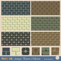 Vector seamless pattern in antique style Royalty Free Stock Photo