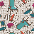 Vector seamless pattern with armchairs.