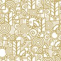 Vector seamless pattern in an art deco style