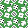 Vector Seamless Pattern Background of lucky Dices. Flat design Vector Illustration Royalty Free Stock Photo