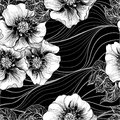 Vector seamless pattern. Background pattern - floral motifs. Flowers. Use printed materials, signs, items, websites, maps, posters