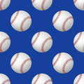 Vector seamless pattern of baseball balls on blue background Royalty Free Stock Photo