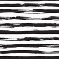 Vector seamless pattern with black brush strokes