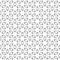 Vector seamless pattern, black figures on white