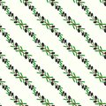 Vector seamless pattern of black olives. Royalty Free Stock Photo