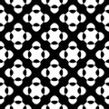 Vector seamless pattern, black & white crossing dots