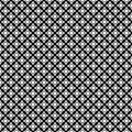Vector seamless pattern, black & white crossing dots Royalty Free Stock Photo
