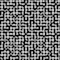 Vector seamless pattern, black & white maze