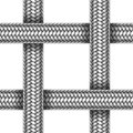 Vector seamless pattern of braided metal cable