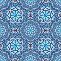 Vector seamless pattern with bright ornament Royalty Free Stock Photo
