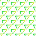 Vector seamless pattern with brush triangles Yellow green gradient color on white background. Hand painted grange