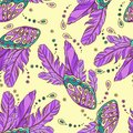 Vector seamless pattern with butterflys wings colored Royalty Free Stock Image