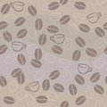 Vector seamless pattern with coffee Royalty Free Stock Images