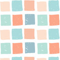 Vector seamless pattern with colored hand drawn squares. Royalty Free Stock Photo