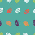 Vector seamless pattern of colorful and ornate easter eggs. Fresh and spring design for greeting cards, textile, booklet, fabric,