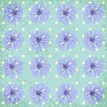 Vector seamless pattern with cornflower eps Stock Photo