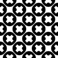 Vector seamless pattern, crosses & circles