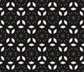 Vector seamless pattern, dark floral minimalist background