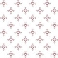 Vector seamless pattern of decorative hand drawing hearts in minimalist style
