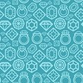 Vector seamless pattern with diamond icons gem and texture and design element Stock Photography