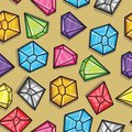 Vector seamless pattern of diamonds Royalty Free Stock Photo