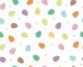 Vector seamless pattern of easter eggs blurred s background is my creative handdrawing and you can use it design and etc made in Royalty Free Stock Images