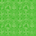 Vector seamless pattern with ecology signs Stock Photography