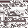 Vector seamless pattern - electronic circuit board Royalty Free Stock Photo