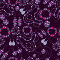 Vector seamless pattern of fashion jewelry Royalty Free Stock Photography