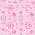 Vector seamless pattern with flowers Royalty Free Stock Image