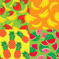 Vector seamless pattern of fruit Royalty Free Stock Images