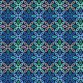 Vector seamless pattern with geometric ornament. Color decorative mosaic illustration for print, web Royalty Free Stock Photo