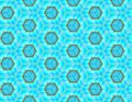 Vector seamless pattern of geometric shapes bright colours Royalty Free Stock Photo