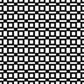 Vector seamless pattern. Geometric texture. Black-and-white background. Monochrome squares & rectangles design.