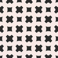 Vector seamless pattern, geometric texture with smooth crosses &