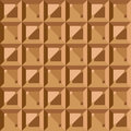 Vector seamless pattern geometric vintage square texture the polygonal brown graphic background Royalty Free Stock Image