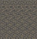 Vector seamless pattern with gold contours of diamonds, gems, crystals. Geometrical print.Trendy design