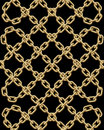 Vector seamless pattern of golden chains Royalty Free Stock Photo