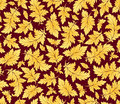 Vector seamless pattern with golden leaves Royalty Free Stock Image