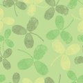 Vector seamless pattern with green leaves Stock Images