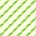 Vector seamless pattern of green olives. Royalty Free Stock Photo