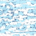 stock image of  Vector seamless pattern with hand drawn brush strokes and stripes