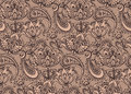 Vector seamless pattern with hand drawn Henna  design elements Royalty Free Stock Photo