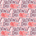 Vector seamless pattern for Happy Valentine`s Day