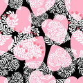 Vector seamless pattern with hearts. The best card for Valentines`s Day.